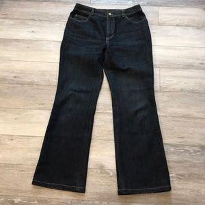 Dana Buchman petite dark denim jeans size 2